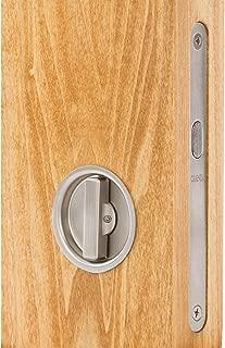 Omnia 3910 Mortise Lock for Wood Pocket Doors, Brushed Stainless Steel