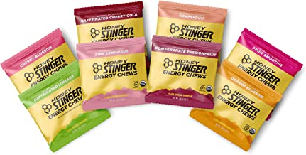 Honey Stinger Organic Energy Chews – Variety Pack - 8 Count – Cherry Blossom, Lime-Aid, Cherry Cola, Fruit Smoothie, Orange Blossom, Pink Lemonade, Pomegranate Passionfruit & Grapefruit