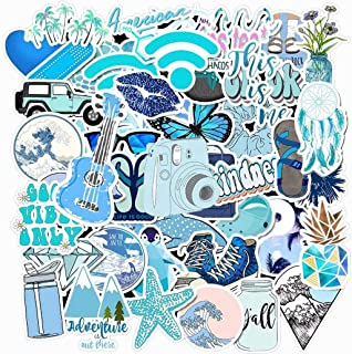 Cute VSCO Stickers for Water Bottles Big 50 Pack Cute,Waterproof,Aesthetic,Trendy Stickers for Teens,Girls Perfect for Waterbottle,Laptop,Phone,Travel Extra Durable Vinyl…