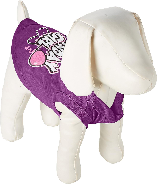 Mirage Pet Products 8Inch Birthday Girl Screen Print Shirts, XSmall, Purple