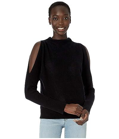 Skin Gillian Cashmere Split Sleeve Pullover (Black) Women