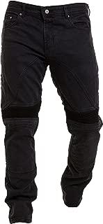 52 Corto//Cintura 36 Longitud 30 XL , Azul JET Pantalon Moto Hombre Jeans Kevlar Aramid Con Armadura