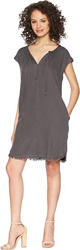 Crosshatch Drop Shoulder Dress