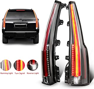 MOSTPLUS LED Tail Lights Rear lamp for Chevrolet Chevy Tahoe Suburban 2015 2016 2017 2018   Red Clear Set of 2