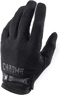 Chrome Full Finger Light Weight Cycling Gloves Black