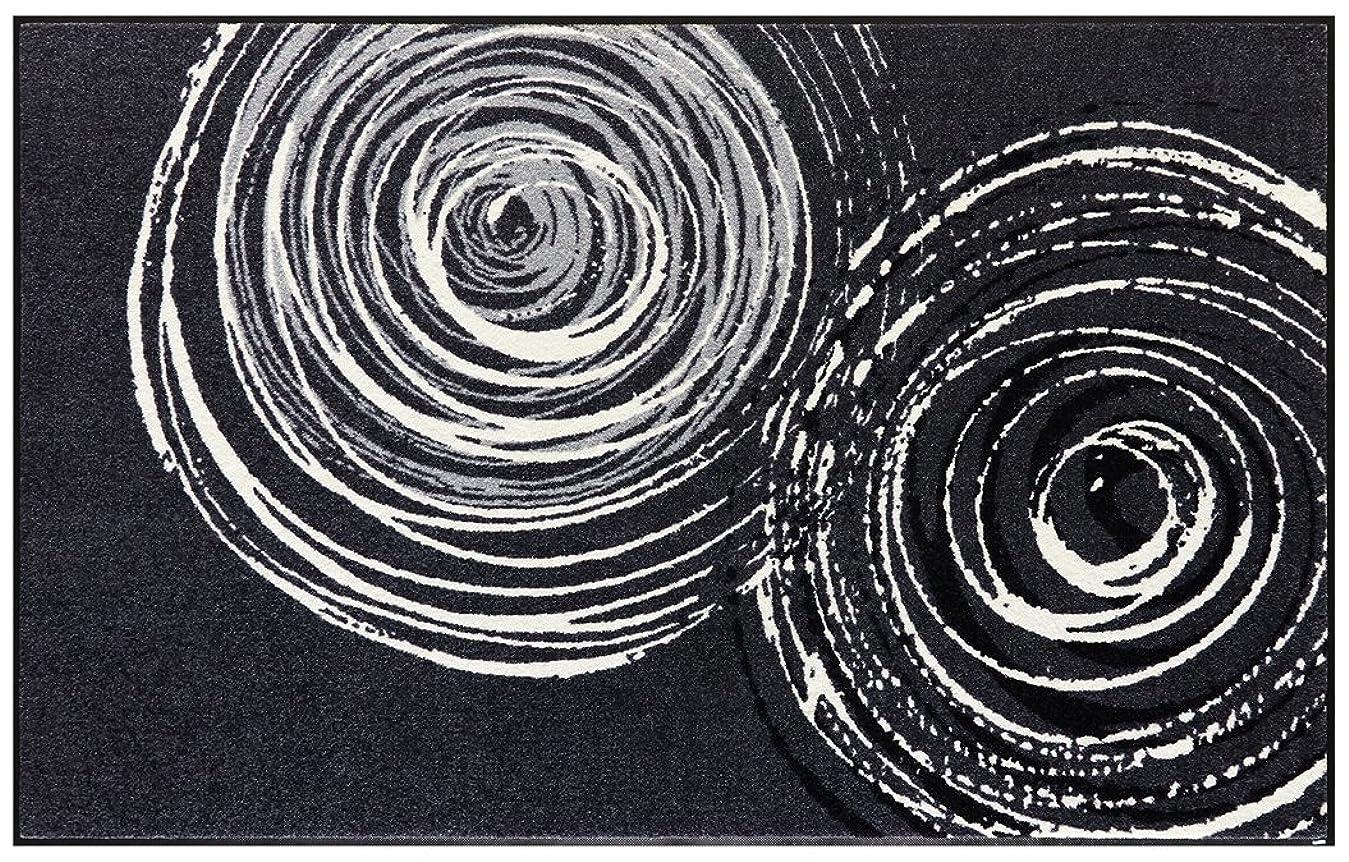 スケルトンヒューバートハドソン拡散するwash+dry(ウォッシュアンドドライ)マット Classic Interior Swirl 110×175cm D017I