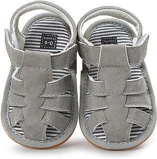صندل جلدي من الجلد الصناعي للأطفال الصغار الأولاد والبنات نعال مطاطية مضادة للانزلاق أحذية رسمية