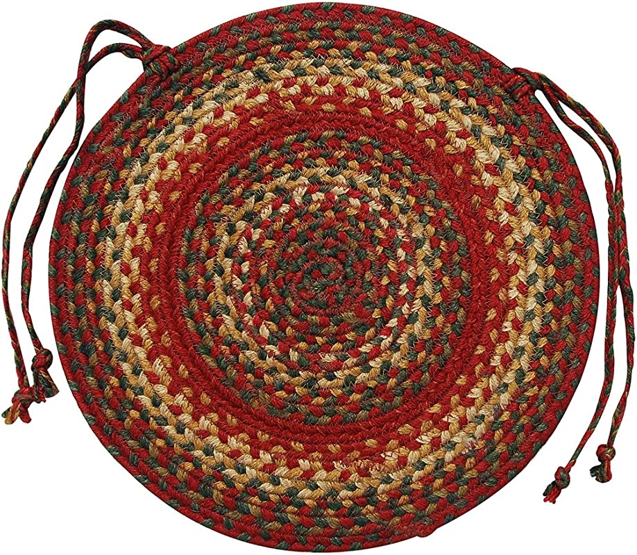 Homespice D Cor Jute Braided Chair Pad 15 Round Red