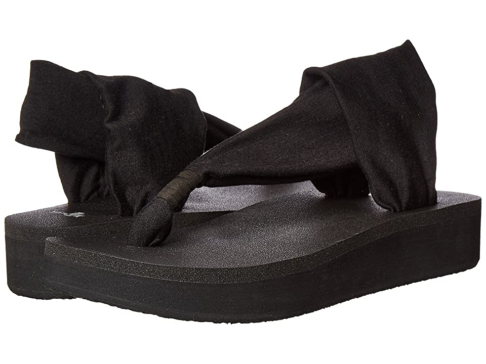 Sanuk Yoga Sling Wedge (Black) Women