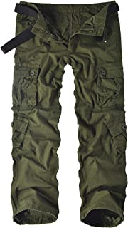 Men's Cotton Casual Military Army Cargo Camo Combat Work Pants with 8 Pocket