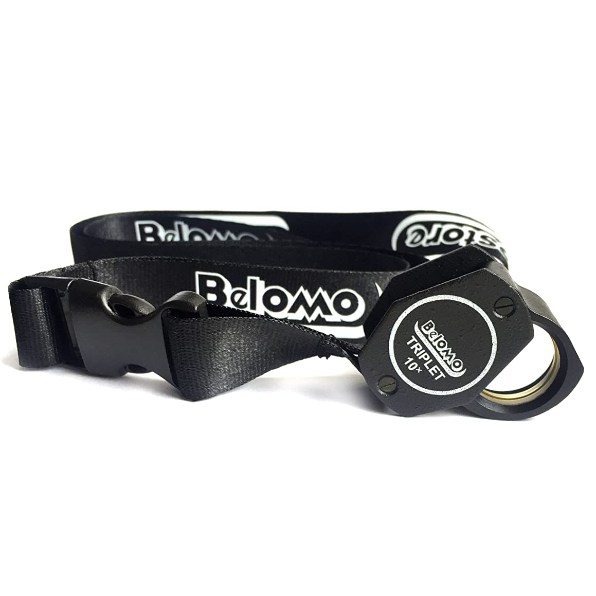 BelOMO 10x Triplet Loupe Magnifier with Attached Deluxe BelOMO Logo Lanyard, Optical Glass with Anti-Reflection Coating for a Bright, Clear and Color Correct View