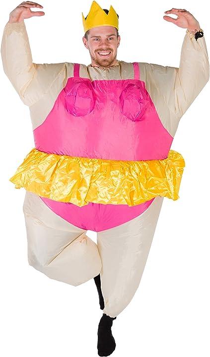 Costume gonfiabile da ballerina per adulti bodysocks® 5060298043498