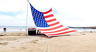 Ajeena Beach Sunshade American Flag Style - Sun Shade That Will Make You Proud - Lycra UPF50+ Perfect Canopy Tent for Kids & Family in Beach,Event,Parks,Parties,Picnic,Camping & Outdoors