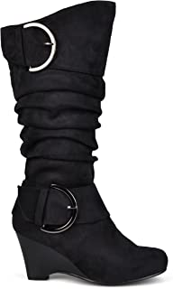 wedge boot wide calf