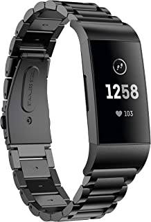 VICARA for Fitbit Charge4/Charge4 SE Fitness Activity Tracker バンド ステンレス 交換用 フィットビット Charge4 Fitbit Charge 4 バンド 調整工具が付属 ビジ...