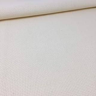 Delicatela Kreuzstich-Stoff, 75 cm x 50 cm, 5,5 Stiche/cm – 14 Counts/Zoll – 100 % Baumwolle – Farbe wählbar 75cm x 50cm beige