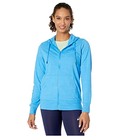 The North Face Lightweight Tri-Blend Full Zip Hoodie (Clear Lake Blue Heather) Women