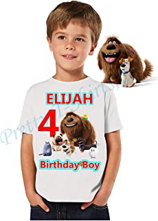 Secret Life of Pets Birthday Shirt, Add Any Name and Age, Birthday Boy Shirt, Family Matching Shirts, Pets Shirt, Pets of Life Birthday Shirts, Pets of Life Shirts, Visit Our Shop