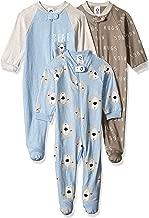 GERBER Baby Boys' 3-Pack Organic Sleep 'N Play