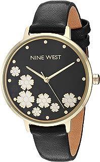 Nine West NW/2348FLBK - Reloj de pulsera para mujer, color dorado y negro