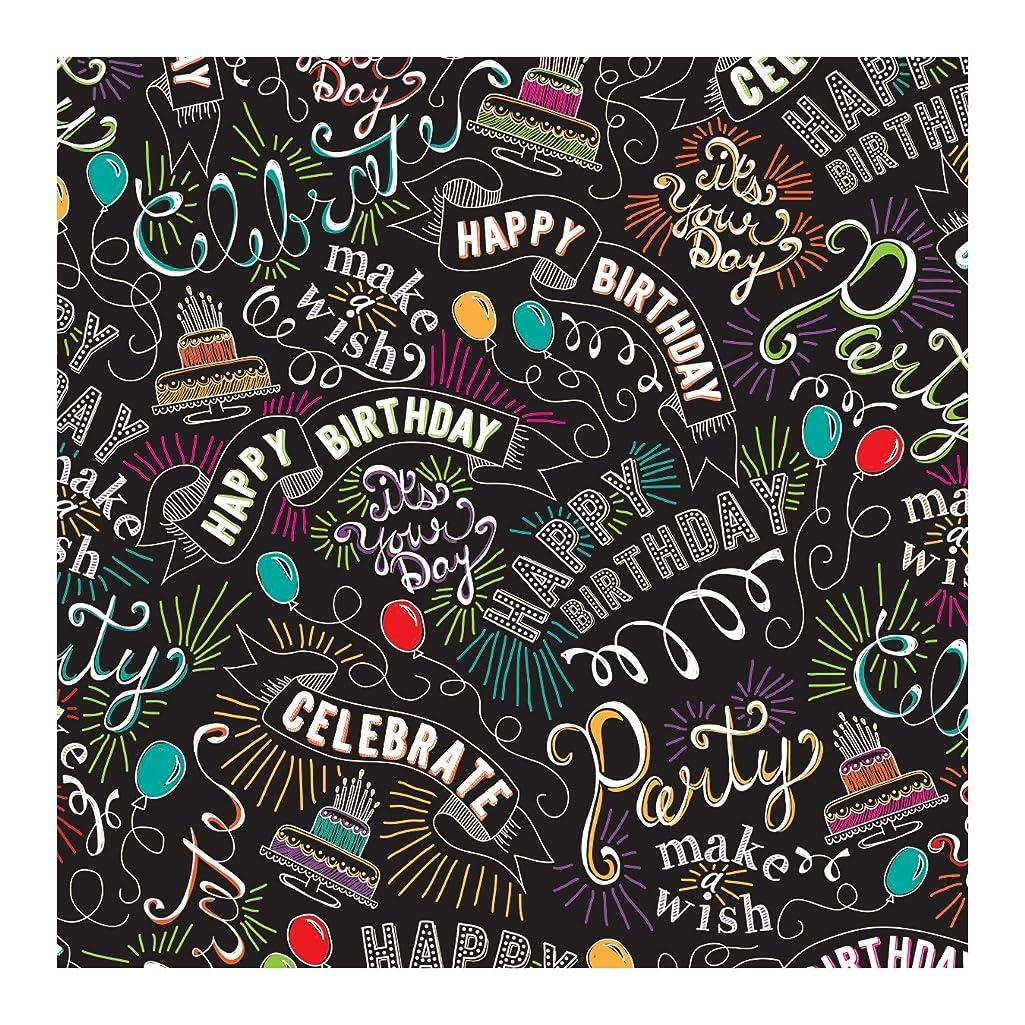 Jillson Roberts Printed Tissue Paper, Birthday Chalk, 24-Sheet Count (PT426)
