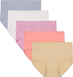 Innersy Women Tummy Control Underwear Postpartum High Waisted Flattening Briefs Panties 5 Pack