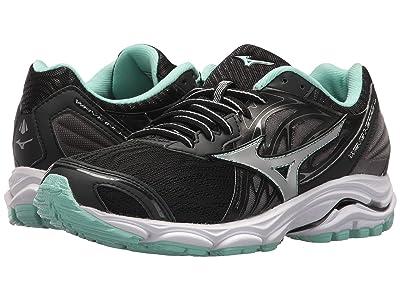 Mizuno Wave Inspire 14 (Black/Silver) Girls Shoes