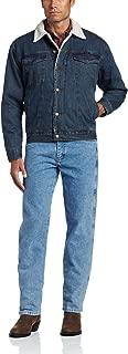 Men's Western Style Lined Denim Jacket
