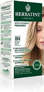 Herbatint Permanent Herbal Hair Color Gel 8N Light Blonde 4.56 Ounce