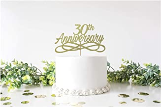 Wedding Anniversary Cake Topper 25th All Anniversaries Wife Husband Married Party Decoration Golden Silver Ruby Double Sided