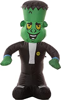 Cute 4 Foot Self Inflating Illuminated Frankenstein Monster Yard Inflatable Blow Up