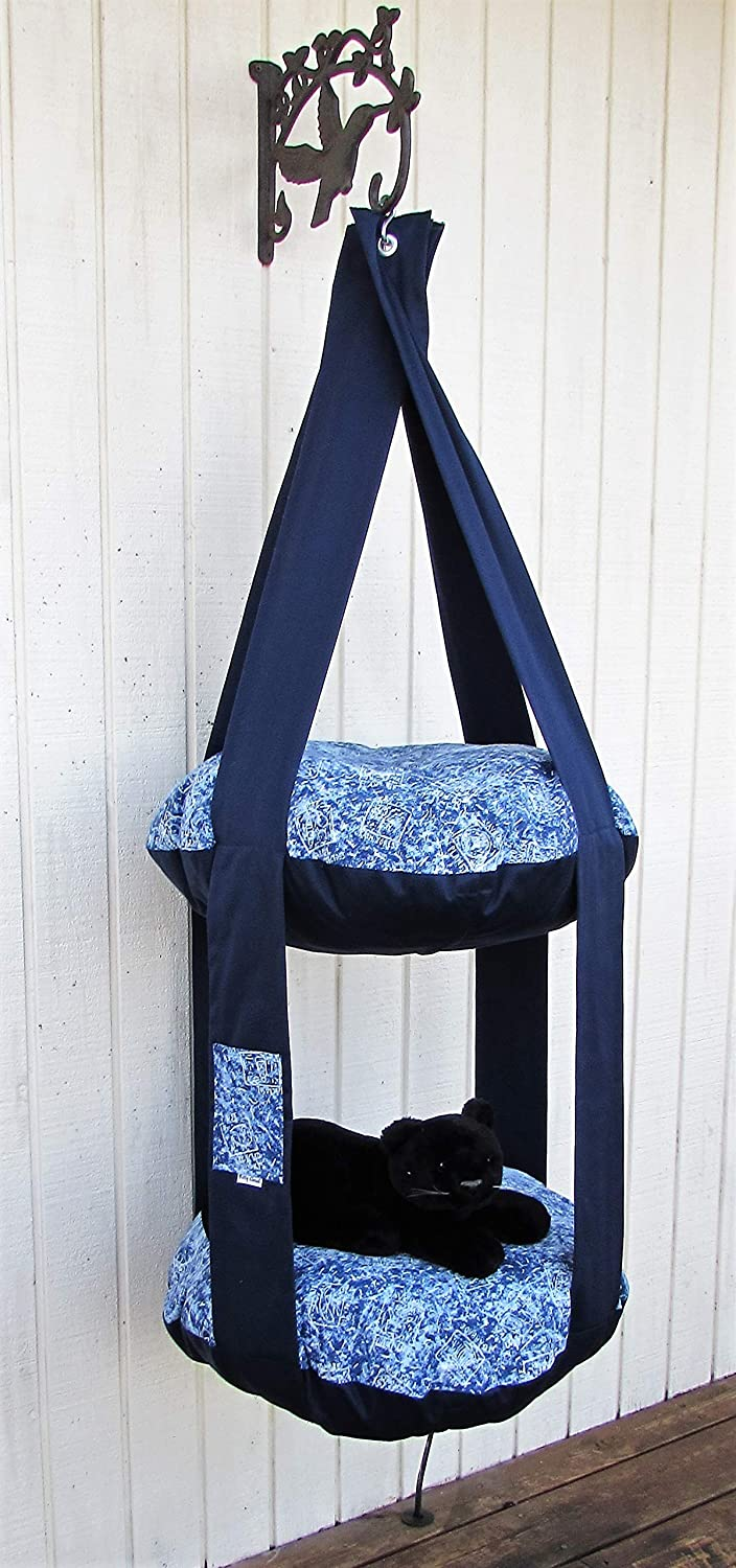 Cat Bed Navy High order Blue Save Planet Our Kitty cheap Double Cloud