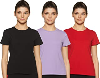 Amazon Brand - Symbol Women's Solid Regular Fit Half Sleeve T-Shirt