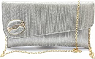 Silver Clutch and Sling bag