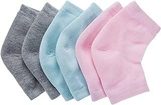 Bememo Soft Ventilate Gel Heel Socks Open Toe Socks for Dry Hard Cracked Skin..