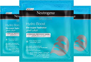 Neutrogena Face Sheet Mask Hydro Boost Hydrogel Recovery, 30ml, Pack of 3