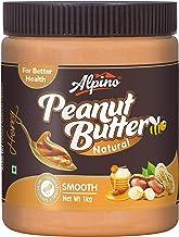 Alpino Natural Honey Peanut Butter Smooth (Gluten Free/Non-GMO) Jar, 1000 g