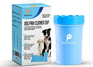 Pristine Paws Dog Paw Cleaner Cup Silicone Bristle Brush Cleaning for Puppy and Adult Use | Indoor and Outdoor Use | Muddy, Dirty, Sandy Feet | Quick, Easy, Portable