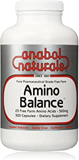 Amino Balance 500 caps, Energy Amino Supplement, Complete 23 Free Form Amino Blend Formula with BCAA's, 9 Essential Amino ...