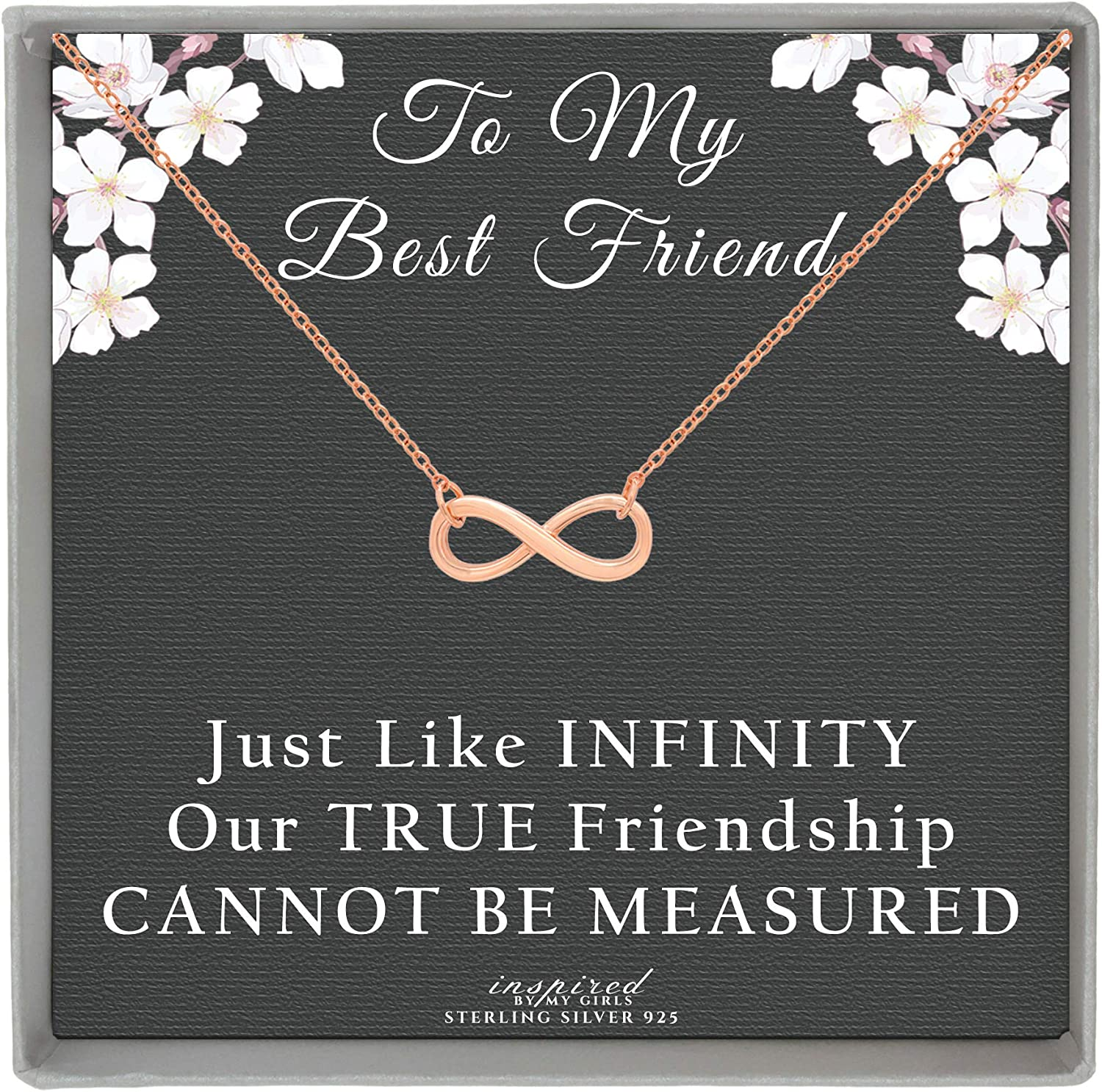 Friendship Engraving 925 Sterling Silver 925 Silver Neck Necklace with Infinity Sign and Plate Pendant coin Partner