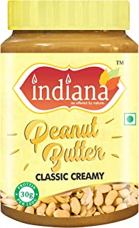 INDIANA Classic Peanut Butter (Creamy) 100% Roasted Peanuts (500g) | 30g Protein
