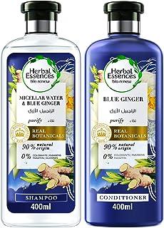 Herbal Essences Bio:Renew Micellar Water and Blue Ginger Shampoo 400 ml + Conditioner 400ml