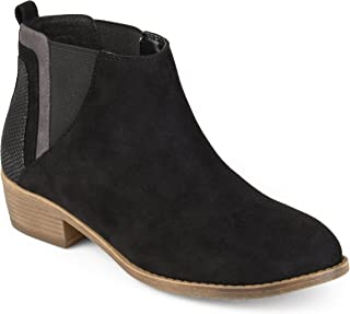 Journee Collection Womens Faux Snake Heel Ankle Booties