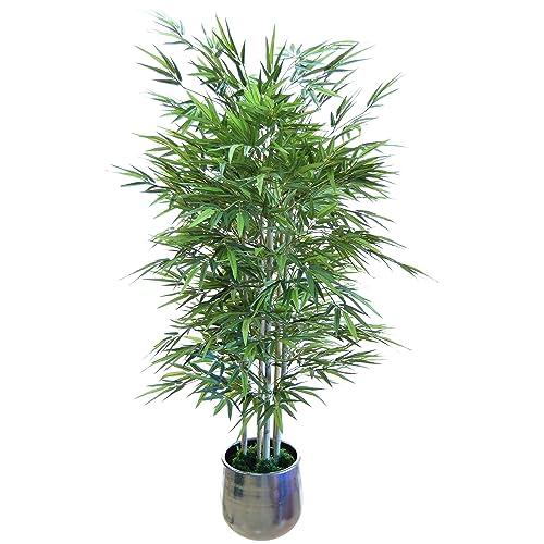 Bambú Artificial con Cañas Naturales, Elaborados con los Mejores Materiales, Ideal para Decoración de