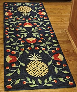 Park Designs Pineapple Hooked Rug Runner 24X72, 24 x 72