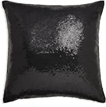 Arthouse, Black Sparkle Sequin Throw Pillow, Modern Home Décor