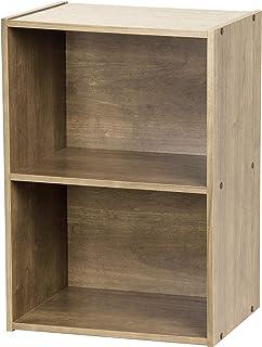 Meuble/Étagère de rangement modulable, 2 compartiments - Basic Storage Shelf CX-2 - Bois, Brun cendré, L41.5 x P29 x H59.5 cm