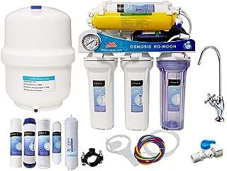 comprar comparacion Depuragua Osmosis inversa MOON75 de 6 etapas. Bomba Manometro, Remineralizador, Grifo Lux
