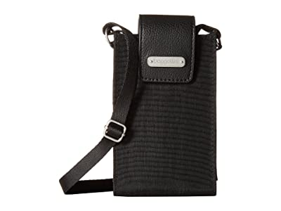Baggallini New Classic RFID Phone Crossbody (Black) Cross Body Handbags