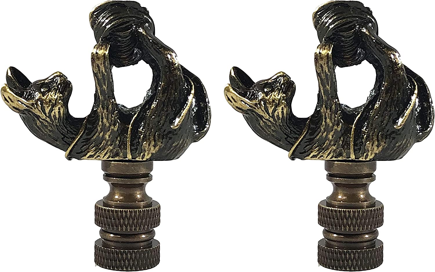Royal Designs Inc. Decorative Playful Cat Finial Lamp B Antique Very popular! Manufacturer direct delivery